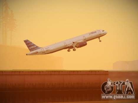Airbus A321-232 jetBlue Airways for GTA San Andreas bottom view