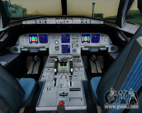 Airbus A321-200 Air New Zealand for GTA San Andreas interior