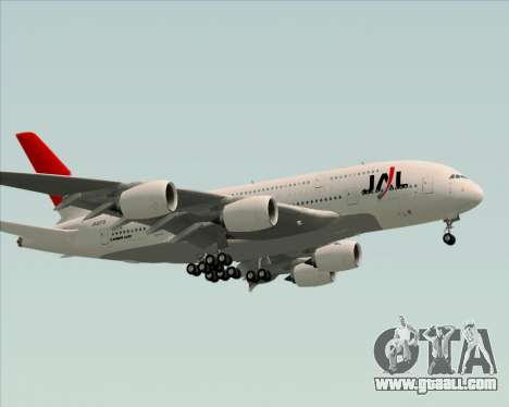 Airbus A380-800 Japan Airlines (JAL) for GTA San Andreas side view