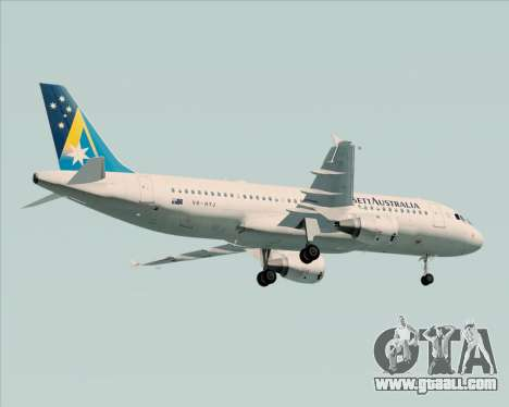 Airbus A320-200 Ansett Australia for GTA San Andreas back view