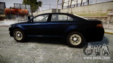 GTA V Vapid Interceptor Unmarked [ELS] Slicktop for GTA 4 left view
