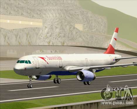 Airbus A321-200 Austrian Airlines for GTA San Andreas left view