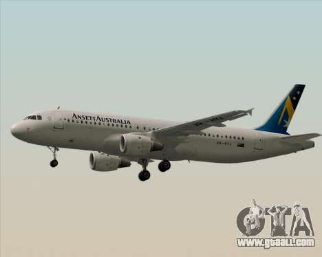 Airbus A320-200 Ansett Australia for GTA San Andreas back left view