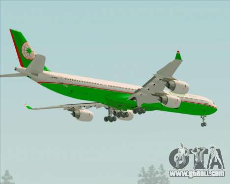 Airbus A340-600 EVA Air for GTA San Andreas wheels