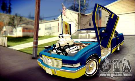 Cadillac Fleetwood 1993 Lowrider for GTA San Andreas upper view