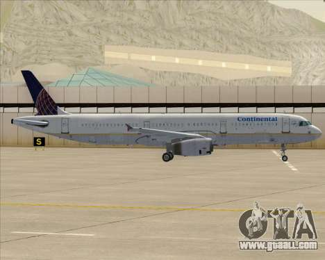 Airbus A321-200 Continental Airlines for GTA San Andreas engine
