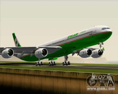 Airbus A340-600 EVA Air for GTA San Andreas inner view