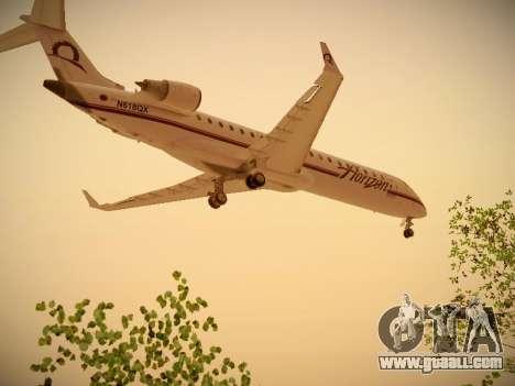 Bombardier CRJ-700 Horizon Air for GTA San Andreas back left view