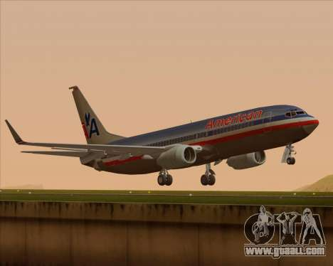 Boeing 737-800 American Airlines for GTA San Andreas back left view