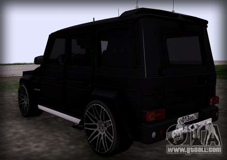 Brabus 800 for GTA San Andreas back left view