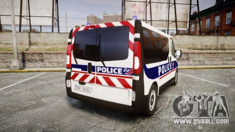 Renault Trafic Police Nationale for GTA 4 back left view