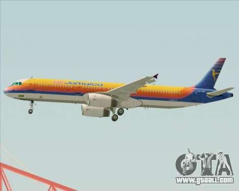 Airbus A321-200 Air Jamaica for GTA San Andreas engine