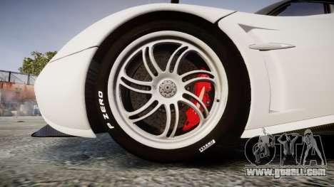 Pagani Huayra 2013 Carbon for GTA 4 back view