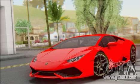 Lamborghini Huracan 2014 Type 2 for GTA San Andreas