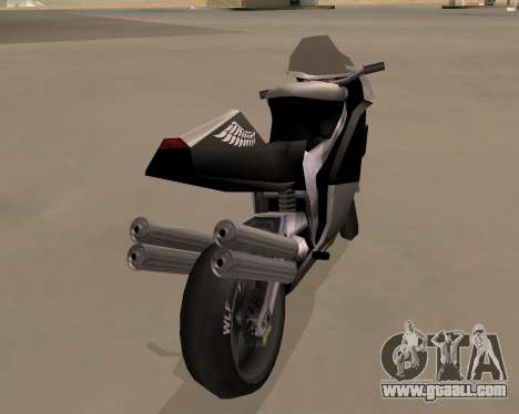 NRG-500 Winged Edition V.1 for GTA San Andreas back left view