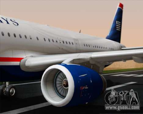 Airbus A321-200 US Airways for GTA San Andreas engine