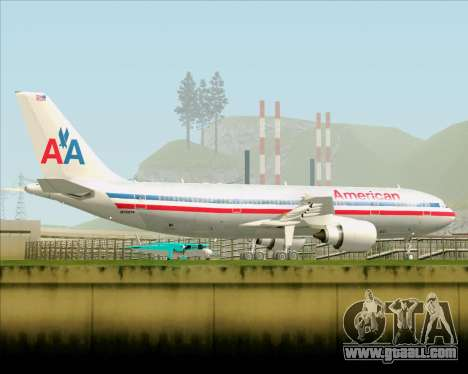 Airbus A300-600 American Airlines for GTA San Andreas upper view