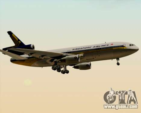 McDonnell Douglas DC-10-30 Singapore Airlines for GTA San Andreas back left view