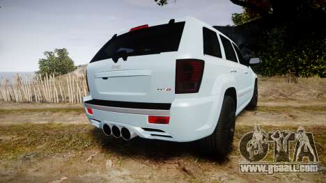 Jeep Grand Cherokee SRT8 stock for GTA 4 back left view