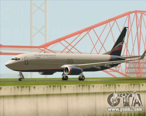 Boeing 737-8LJ Aeroflot - Russian Airlines for GTA San Andreas back left view