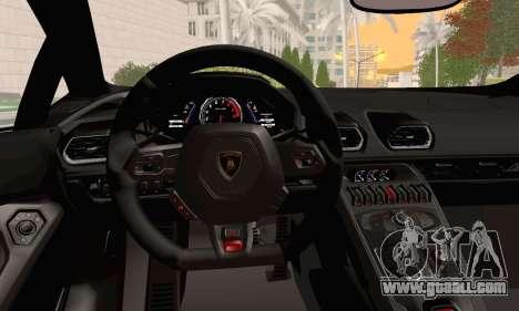 Lamborghini Huracan 2014 for GTA San Andreas right view
