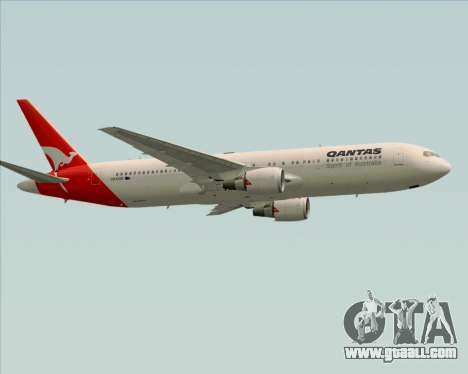 Boeing 767-300ER Qantas (Old Colors) for GTA San Andreas inner view