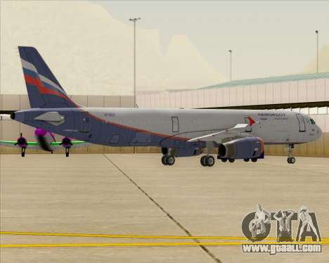 Airbus A321-200 Aeroflot - Russian Airlines for GTA San Andreas wheels