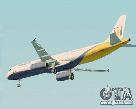 Airbus A321-200 Monarch Airlines for GTA San Andreas bottom view