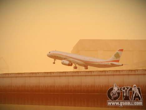 Airbus A321-232 Middle East Airlines for GTA San Andreas bottom view