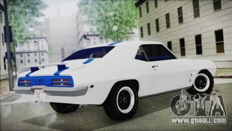 Pontiac Firebird Trans Am Coupe (2337) 1969 for GTA San Andreas left view