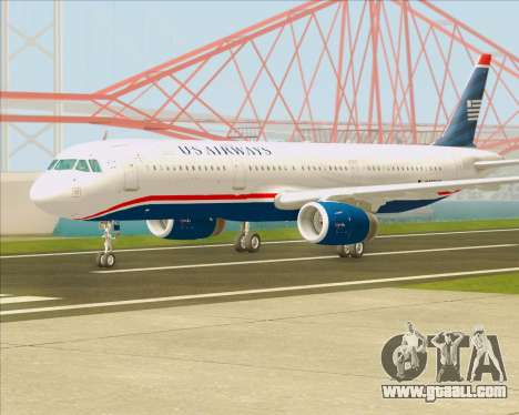 Airbus A321-200 US Airways for GTA San Andreas back left view