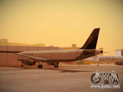 Airbus A321-232 Cyprus Airways for GTA San Andreas back left view