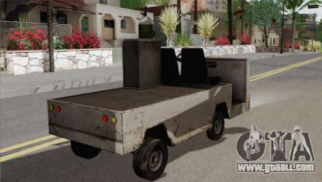 Umbrella Cart for GTA San Andreas back left view