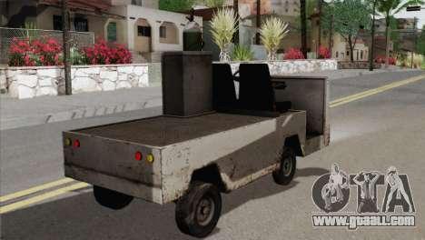 Umbrella Cart for GTA San Andreas back left view