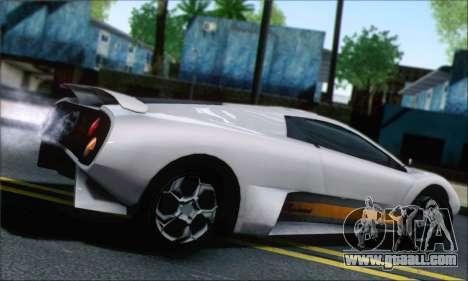 GTA 5 Infernus for GTA San Andreas left view