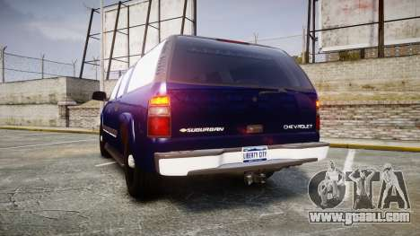 Chevrolet Suburban Undercover 2003 Grey Rims for GTA 4 back left view