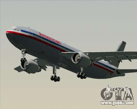 Airbus A300-600 American Airlines for GTA San Andreas left view