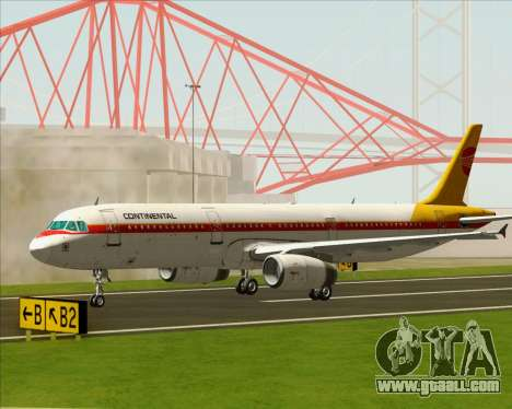 Airbus A321-200 Continental Airlines for GTA San Andreas right view