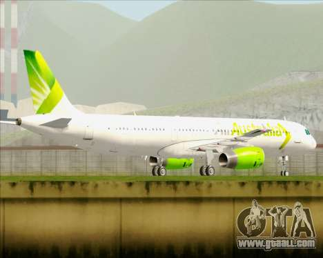 Airbus A321-200 Air Australia for GTA San Andreas upper view