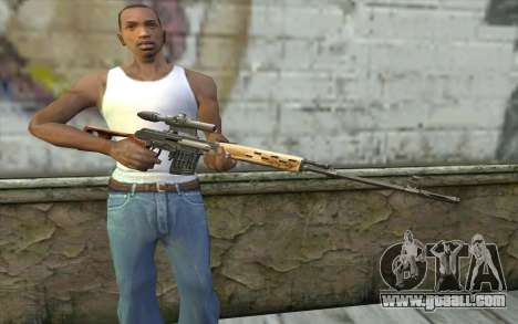 Sniper Rifle Dragunov for GTA San Andreas third screenshot