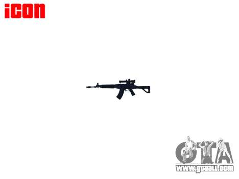 Machine QBZ-03-1 target for GTA 4 forth screenshot