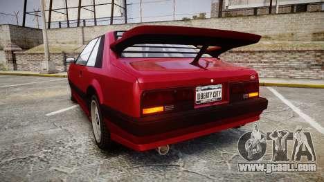 Vapid Uranus Custom for GTA 4 back left view