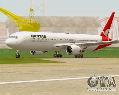 Boeing 767-300ER Qantas (Old Colors) for GTA San Andreas upper view