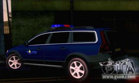 Volvo XC70 K9 Politie for GTA San Andreas left view
