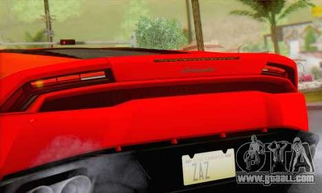 Lamborghini Huracan 2014 Type 2 for GTA San Andreas back left view