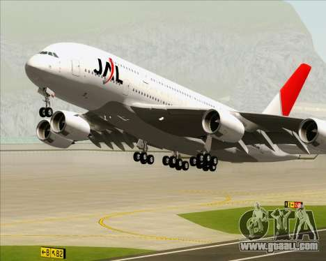 Airbus A380-800 Japan Airlines (JAL) for GTA San Andreas