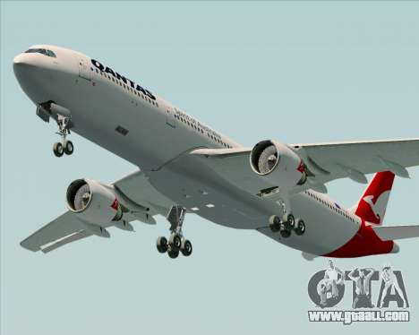 Airbus A330-300 Qantas (New Colors) for GTA San Andreas engine