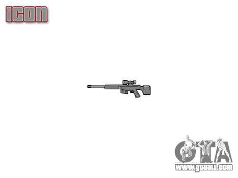 Large-caliber sniper rifle for GTA 4 third screenshot
