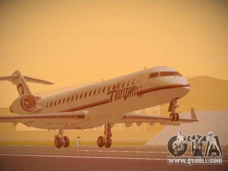 Bombardier CRJ-700 Horizon Air for GTA San Andreas left view