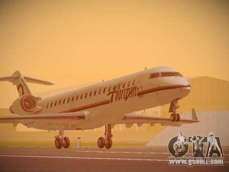 Bombardier CRJ-700 Horizon Air for GTA San Andreas left view